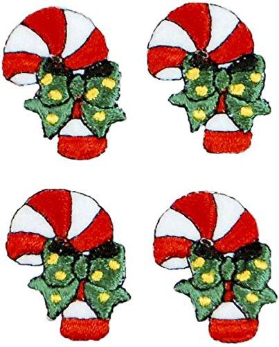 - Expo International Christmas Candy Cane Iron-on Applique Trim Embellishment, Mini, Multi-Color, 4-Pack