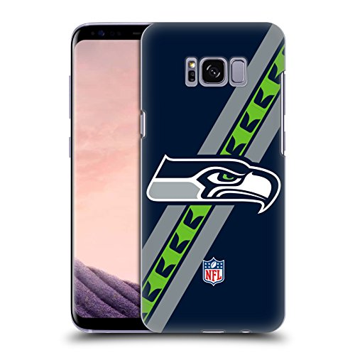Official NFL Stripes Seattle Seahawks Logo Hard Back Case for Samsung Galaxy S8