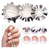 BEAUTYBIGBANG French Smile Line Acrylic Gel Cutter Tool - Staniless Steel C-Shape Manicure Trimmer by Nail Art DIY (3 Patterns)