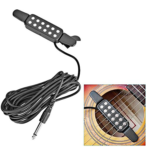 12 String Pickup Guitar (TraderPlus 12 Hole Guitar Pickup Acoustic Electric Transducer Amplifier for Acoustic Guitar with Cable Length 10ft (Silver))