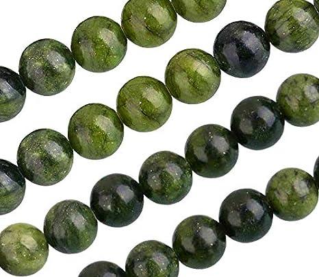 Piedras Preciosas Naturales Taiwan Jade Mate y Pulido, Redondas, 4 mm, 6 mm, 8 mm, 10 mm, Color Verde, Set Suelto, Piedra, Verde, 6mm, 18 Stück Poliert