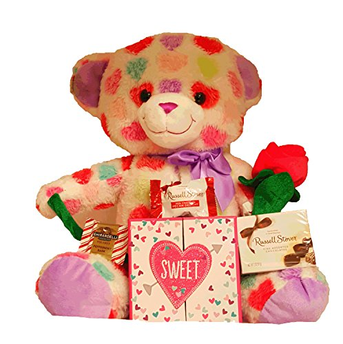 (For A Special Lady Gift Set with Chocolate and Soft Plush Teddy Bear (15
