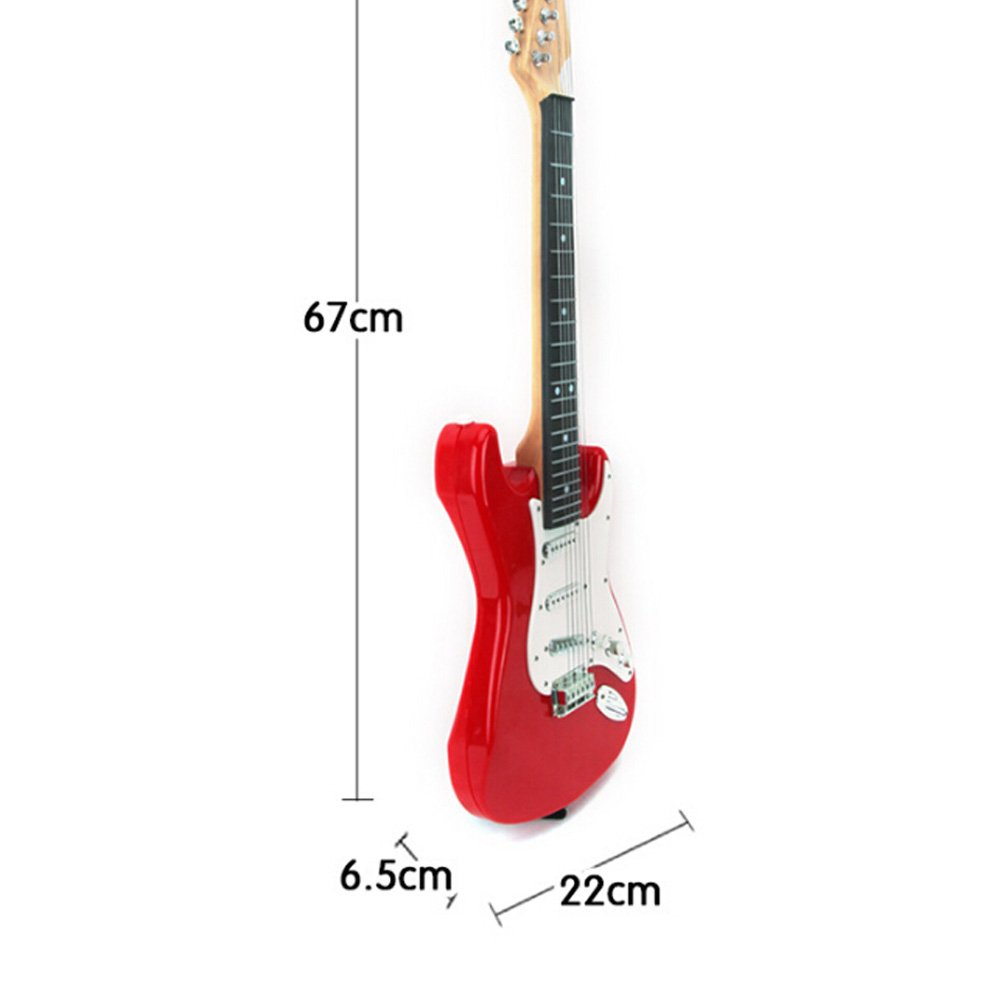 Amazon ELEARreg 25 Inch Childrens Electric Guitar 6 Strings For Kids Musical Educational Toy Gifts Red And White Toys Games