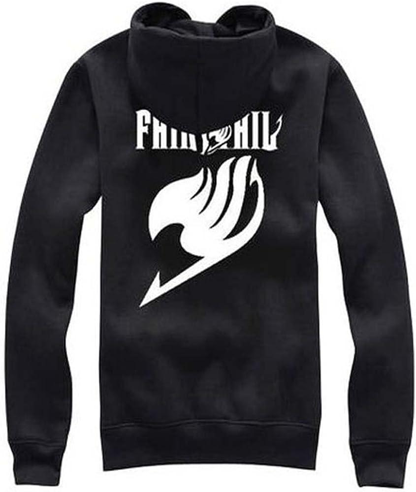 Anime Fairy Tail Erza Scarlet Black Unisex Jacket Zip Sweatshirt Hoodie Coat;3