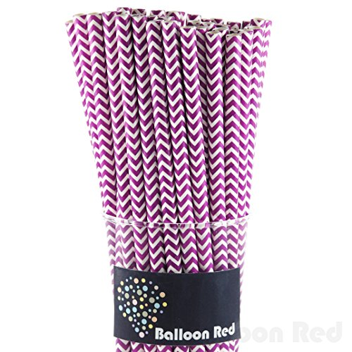 Biodegradable Paper Drinking Straws (Premium Quality), Pack of 50, Chervon - (Easy To Make Homemade Halloween Costumes)