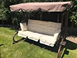Gardman Somerset 3 seater Swinging Hammock Bed Heavy Duty Garden Bench Patio