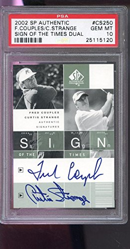 gn Of The Times Fred Couples Strange AUTO autograph PSA 10 ()