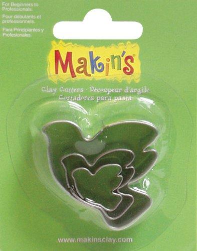 Makin's USA Clay Cutters, Dove, 3 Per Package