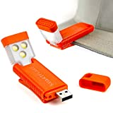 SmartFlare SwivelClip Mini LED Light Clip-On Ball Cap or Shirt Rechargeable Flashlight