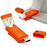 SmartFlare SwivelClip Mini LED Light Clip-On Ball Cap or Shirt Rechargeable Flashlight