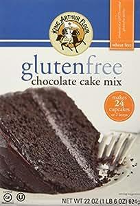 Amazoncom King Arthur Gluten Free Flour Chocolate Cake Mix 22 oz