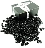 Finnska Sugar Free Black Licorice Bites, 2 lb Bag in a BlackTie Box
