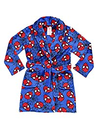 Spider-Man Boys Fleece Sleep Robe | Soft & Cozy Kids Bathrobe - 6X