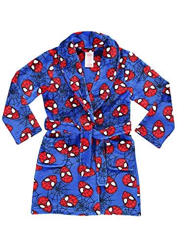 Spider-Man Boys Fleece Sleep Robe | Soft & Cozy Kids Bathrobe - 5 (Spider Flannel Man)