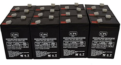 SPS Brand 6V 4.5Ah Replacement Battery for Ohio 504Us Pulse Oximeter (12 Pack)