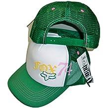Fox Racing Squared White Womens Trucker Mesh Back Snapback Hat Cap Osfa White/Green