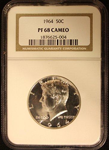 1964 Kennedy Half Dollar Proof PF68 Cameo Half Dollar PF68 NGC CAM (Dollar Kennedy Proof Half)