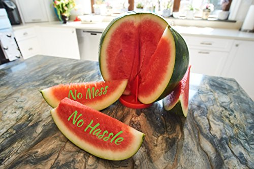 Patented Watermelon Slicer Stand - My MelonAid Cutter - Push, Cut & Eat Healthy - Safe, No Mess and No Stress - Tool for All types of Melons by My MelonAid (Image #6)