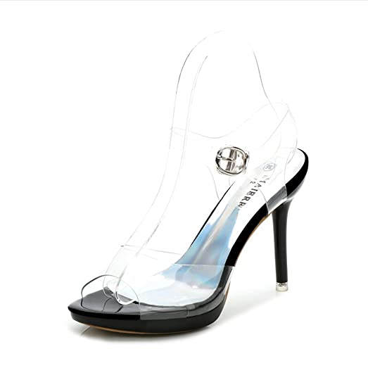 Women New Design Shoes Fashion Transparent Sandals High Heel Big Size