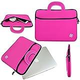 13 inch Macbook Air Sleeve, Macbook Pro Sleeve, KOZMICC 13 13.3 Inch Premium Neoprene MacBook Sleeve Case (Pink) w/ Handle for Apple MacBook Air, MacBook Pro Retina, Macbook Pro 2016, MacBook