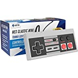 Image of Ortz 10 Feet NES Classic Edition Mini Controller [TURBO EDITION] Rapid Buttons for Nintendo Gaming System