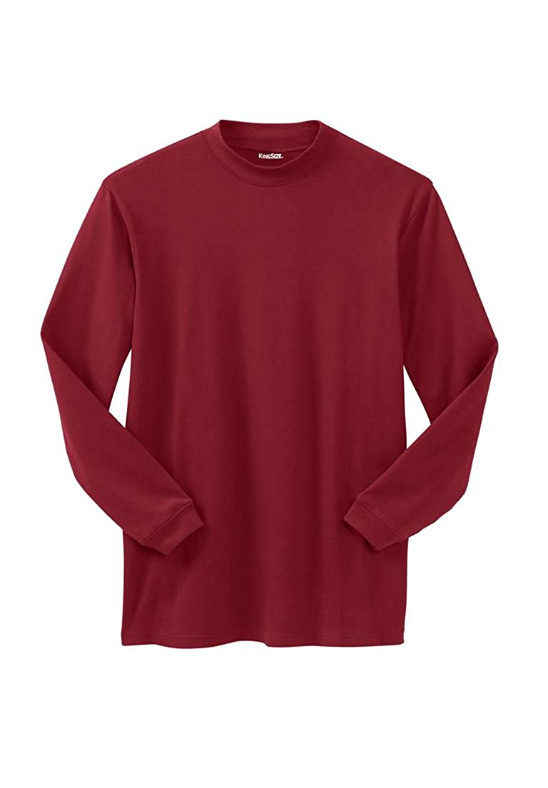 KingSize Men's Big & Tall Mock Turtleneck Long-Sleeve Cotton Tee