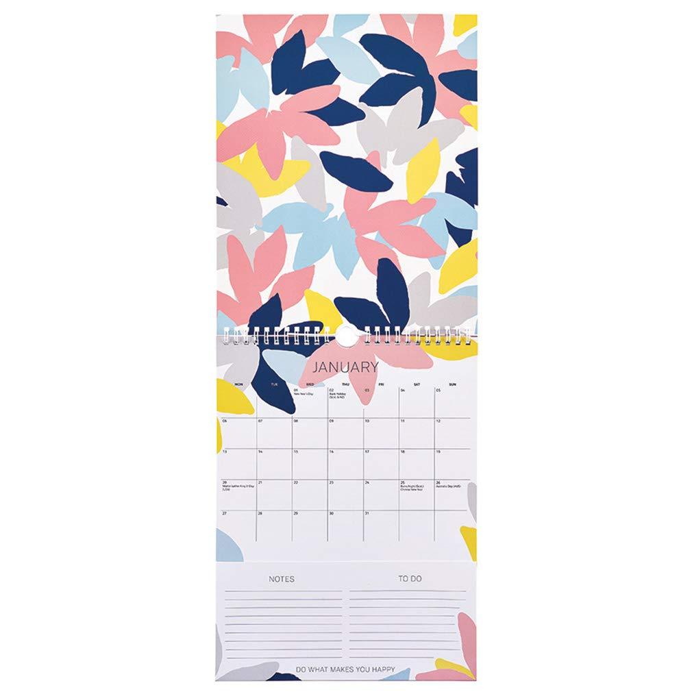Calendario Busy Life 2020 Busy B calendario mensual azul con bolsillos and listas to do