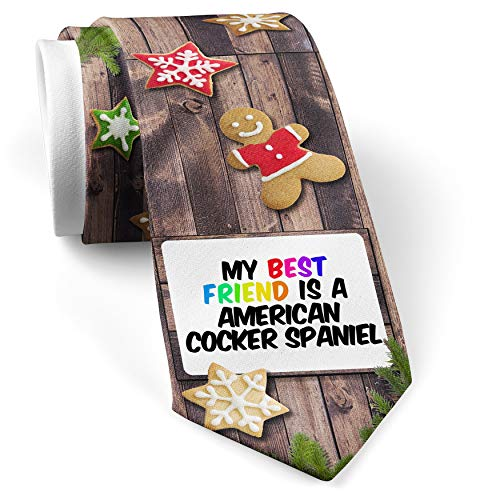 His Christmas NeckTie My best Friend a American Cocker Spaniel Dog from United States cookie wood print