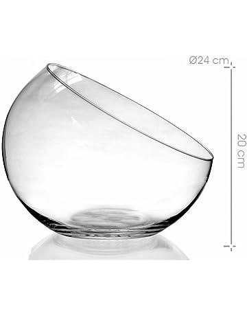 ARTE REGAL Pecera de cristal boca cortada 24 x 24 x 20 cm.