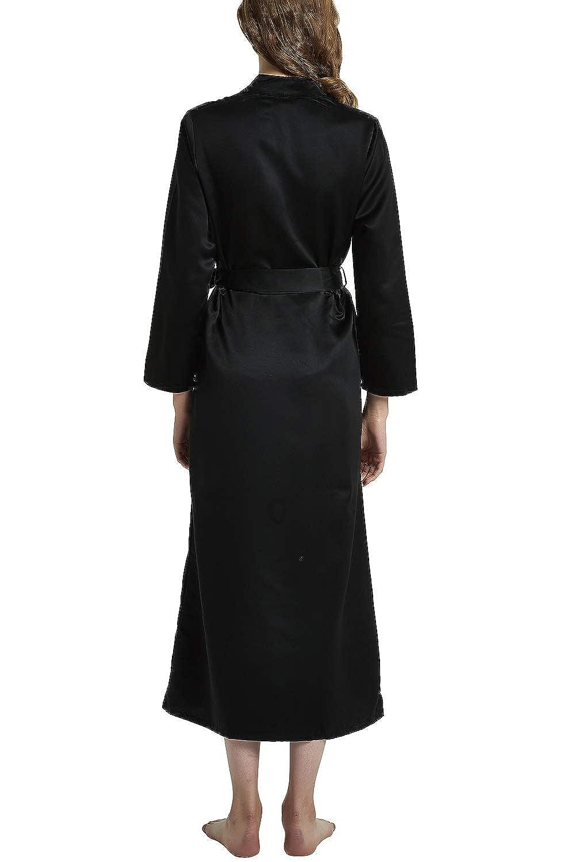 YAOMEI Kimono Albornoz para Mujer, Satín Camisón Robe Albornoz Dama de Honor Ropa de Dormir Pijama, para SPA Hotel Sauna con Bolsillo: Amazon.es: Ropa y ...