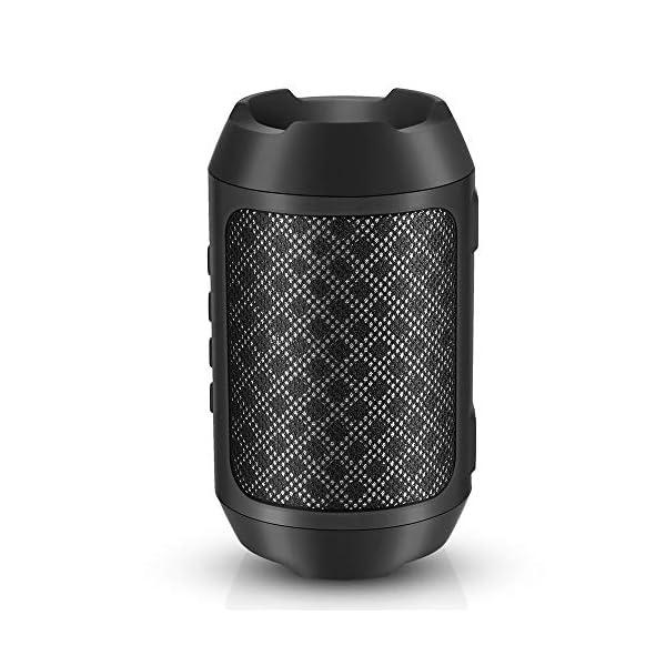 Enceinte Bluetooth Portable, 8W Enceintes Portable Haut-Parleur Bluetooth 4.2 sans Fil, avec Son 360°, Basse Améliorée, Carte TF, Mains Libres, Etanche, 12 Heures d'autonomie pour Gym/Jogging 1
