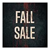 CGSignLab | ''Fall Sale -Ghost Aged Rust'' Repositionable Opaque White 1st Surface Static-Cling Non-Adhesive Window Decal (5-Pack) | 24''x24''