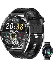 Smartwatch Pulsera Inteligente,HONGHCL Reloj Inteligente Deportivo de Pantalla Táctil Completa Impermeable Ip67, Reloj Inteligente Para Hombre Con Función de Recordatorio de Llamada y SMS por Bluetooth, Reloj Inteligentes con Almacenamiento de Música, Relojes Inteligente con Pulsómetro, Cronómetros, GPS, Monitor de Sueño, Smartwatch Hombre para Android iOS(Negro)