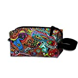 Hippie Hip Hop Toiletry Bag Cosmetic Bag Travel Cosmetic Bags Large Capacity For Women
