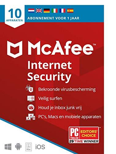 McAfee Internet Security 2021 |10 apparaten |1 jaar | antivirussoftware, internetbeveiliging, wachtwoordbeheer, Mobile…