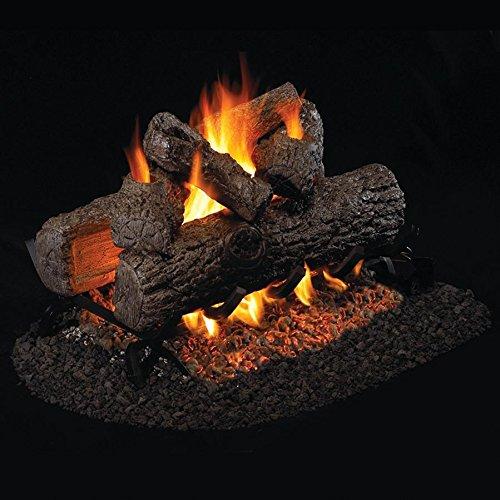 Peterson Real Fyre 20 Inch Golden Oak See Thru Log Set With Vented Natural Gas G45 Burner - Match Light (Vented Thru See Natural)