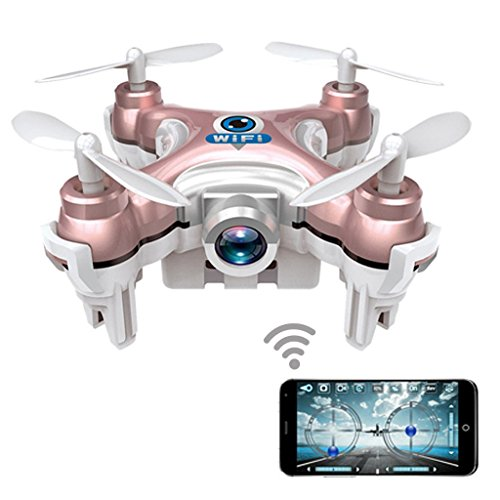 Dwi Dowellin Wifi FPV Drones With Camera Live Video Mini RC Quadcopter Spy Drone Pocket Drone for Apple iPhone iPad Sumsung HTC CX-10WP
