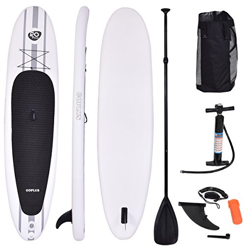 Goplus Inflatable 11' Cruiser SUP StandUp Paddle Board Package w/ Leash Fin Adjustable Paddle Pump Kit Carry Backpack, 6'' Thick by Goplus