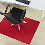 Office Marshal® Office Chair Mat - Red - Hard Floor Protection, 30