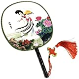 Attractive Chinese Round Fan Classical Dancing Dan With Beautiful Pattern, #17