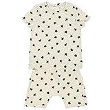 Summer Pajamas Sleepwear Twingkle Little Star T Shirt & Pants Sets for Kids (Cream, 5T)
