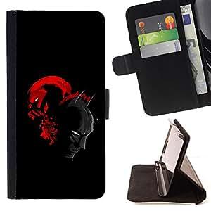 - Bat & Villain Superheroes - - Prima caja de la PU billetera de cuero con ranuras para tarjetas, efectivo desmontable correa para l Funny HouseFOR Samsung Galaxy S3 Mini I8190Samsung Galaxy S3 Mini I8190