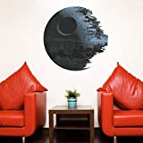 Witkey 3D View Series Stereoscopic Removable Kids Room Nursey Room Living Room DIY Mural Home Decor Wallpaper Wall Stickers Décor(Star Wars Death Star)