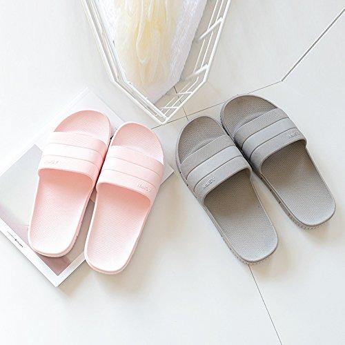 Moodeng Shower Slippers Men and Women Non-Slip Causal Indoor Home Bathroom Sandals Poolside Pink cnJATv