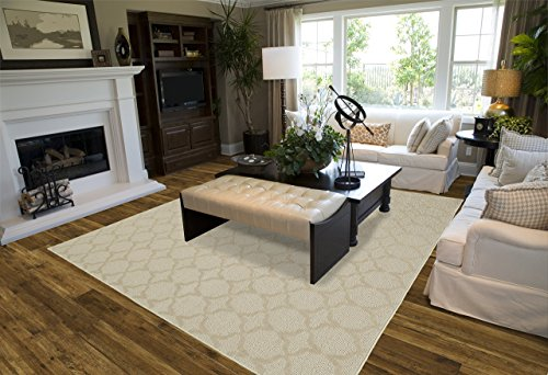 Garland Rug Sparta Area Rug, 9' x 12', Tan (X 12 Rugs Area 10)
