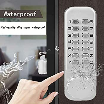 Security Code Lock no Power Supply Mechanical Keyless Door Lock,Mechanical Password Combination Door Lock Fireproof and Waterproof