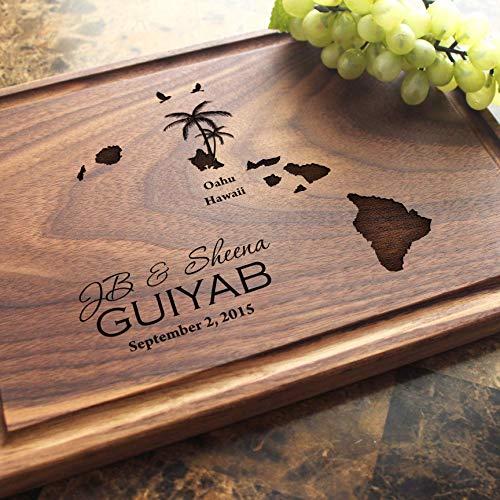 - Personalized Cutting Board, Custom Keepsake, Engraved Serving Cheese Plate, Wedding, Anniversary, Engagement, Housewarming, Birthday, Corporate, Closing Gift #807