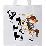 Inktastic - I'm One-cowboy riding horse birthday Tote Bag White