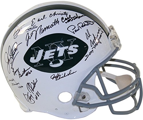 - 1969 New York Jets Team Signed Authentic 65-77 Throwback Helmet (24 Signatures)