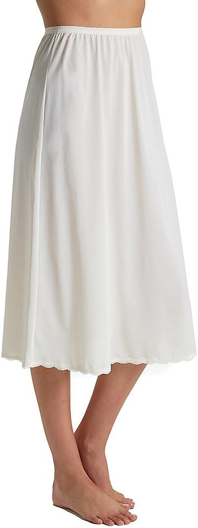 1920s Lingerie History- Underwear, Slip, Bra, Corset Shadowline Womens 30 inch Flare Half Slip 4711630 $20.00 AT vintagedancer.com